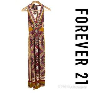 NWT FOREVER 21 Halter Maxi Dress Sz S $30!
